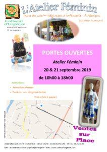 Le Collectif d'Urgence d'Alençon vous accueille les 20 et 21 septembre prochains lors de ses portes ouvertes. Entrée gratuite.