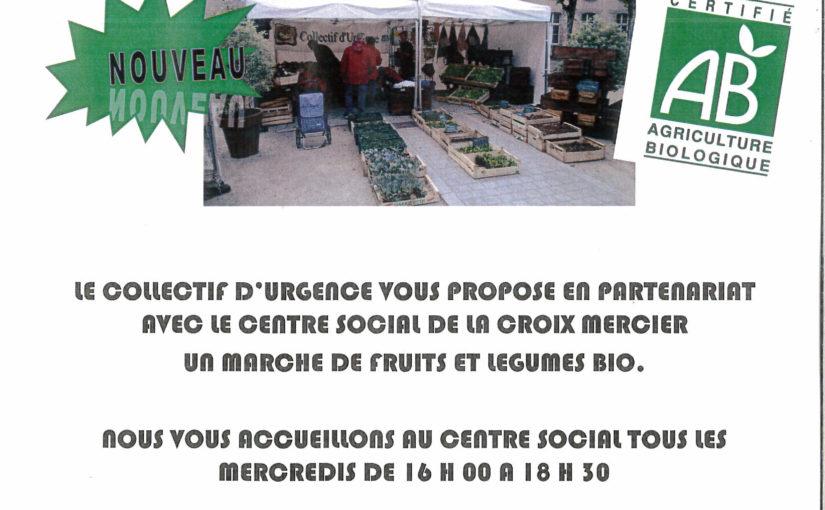 Collectif d'Urgence - Affiche marché Croix Mercier
